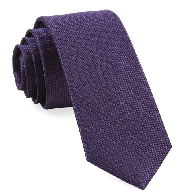 Sideline Solid Plum Tie