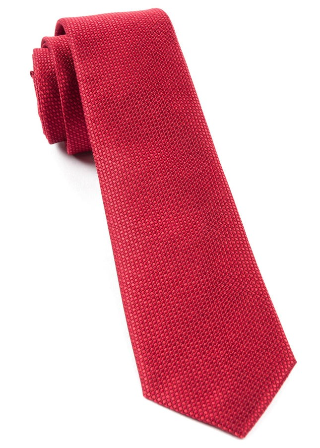 Sideline Solid Red Tie
