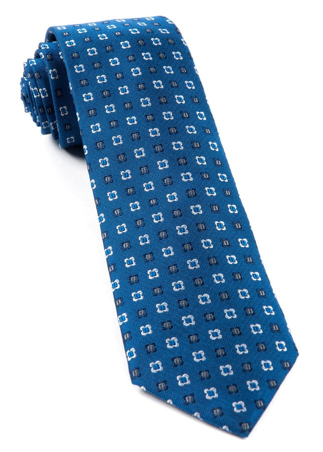 Steady Bloom Serene Blue Tie