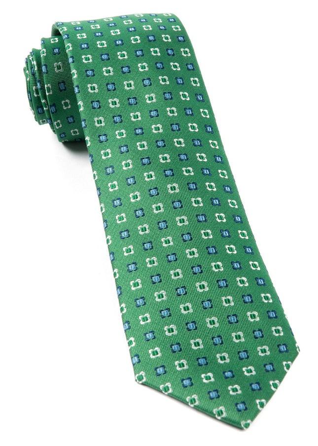 Steady Bloom Kelly Green Tie