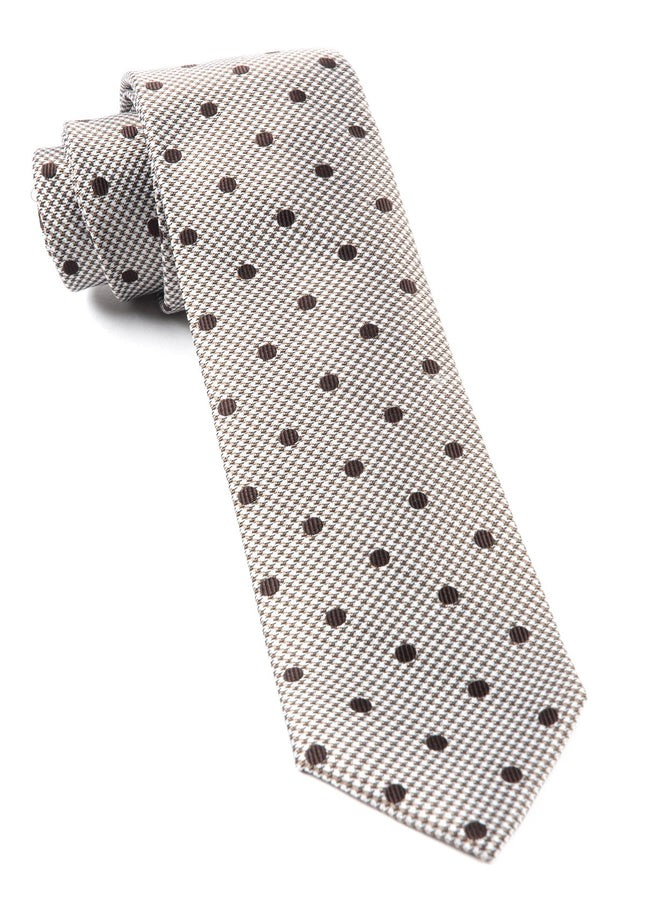 Surface Dots Brown Tie