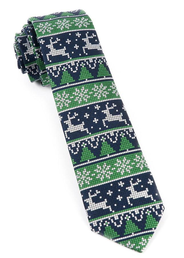 Holiday Gamer Navy Tie
