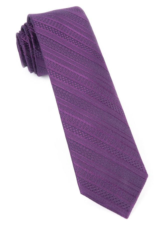 Indie Solid Plum Tie