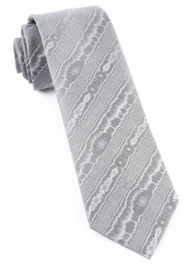 Ingrained Silver Tie