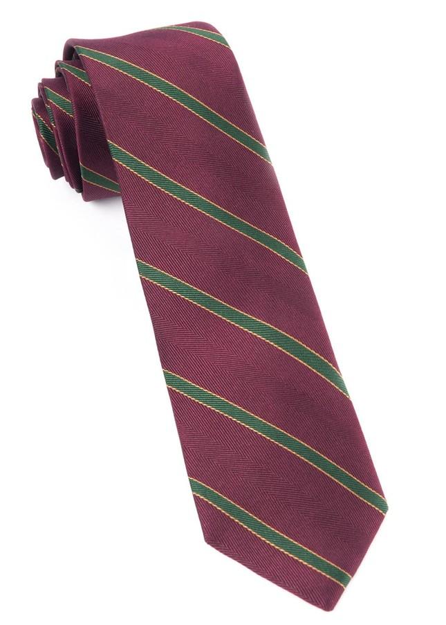 Kennedy Stripe Burgundy Tie
