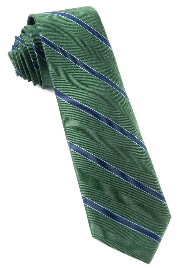 Kennedy Stripe Hunter Green Tie