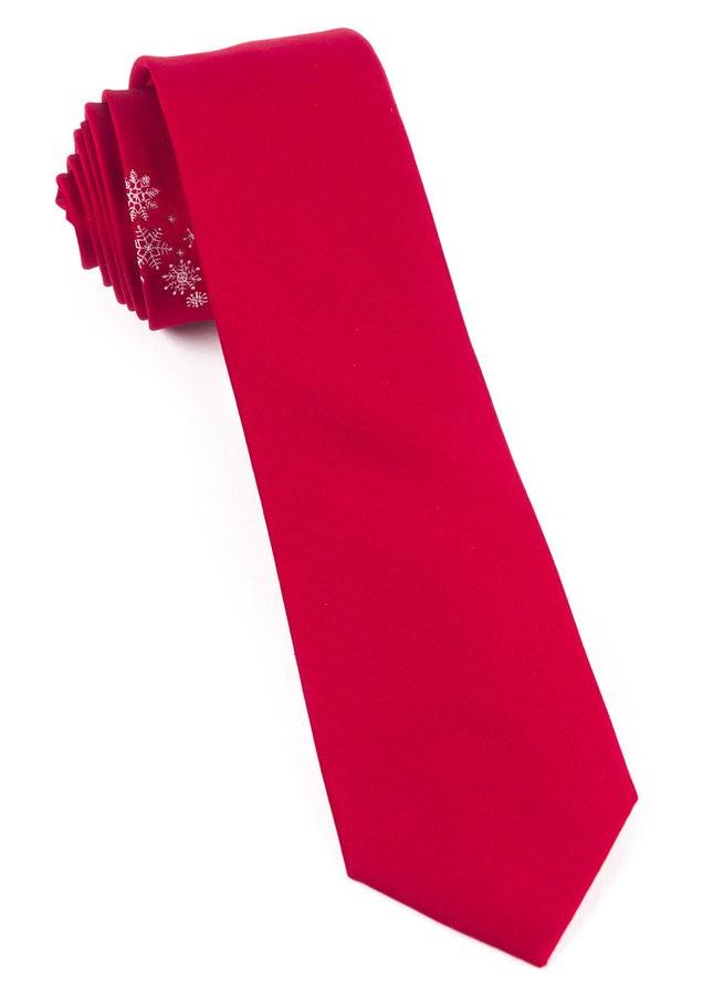 Snow Shower Red Tie