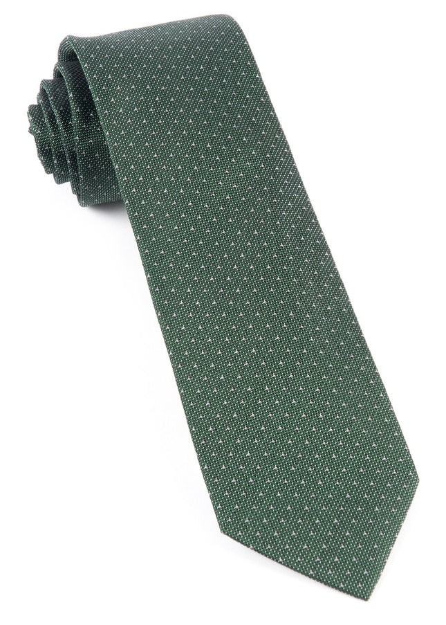 Square Root Hunter Green Tie