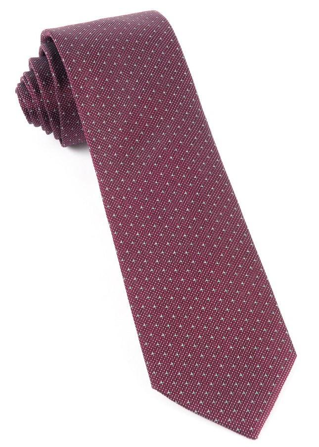 Square Root Burgundy Tie