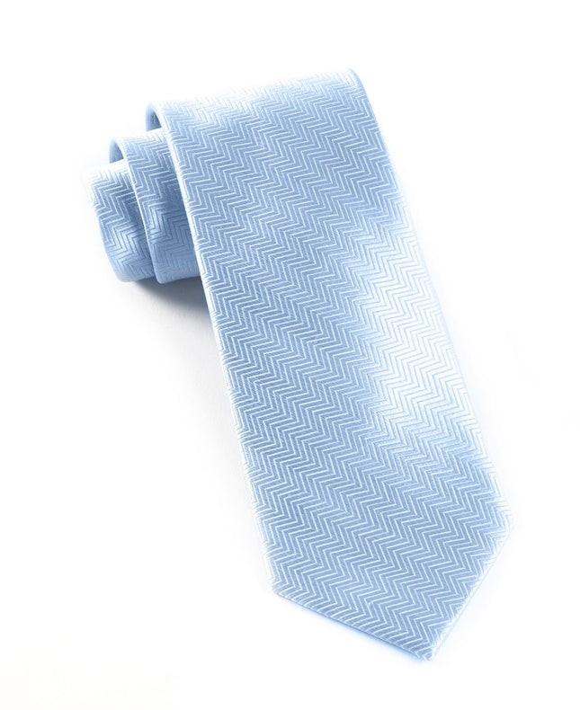 Herringbone Baby Blue Tie
