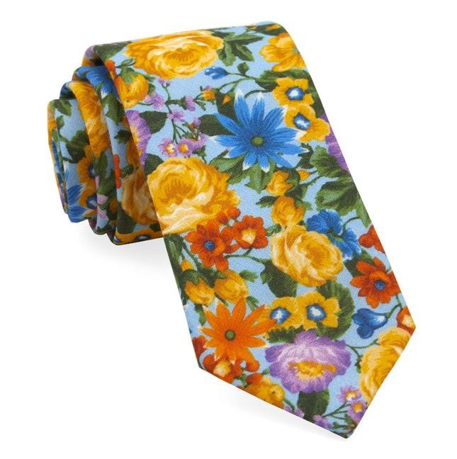 Duke Floral Light Blue Tie