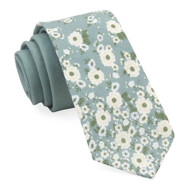Meyer Flowers Sage Green Tie