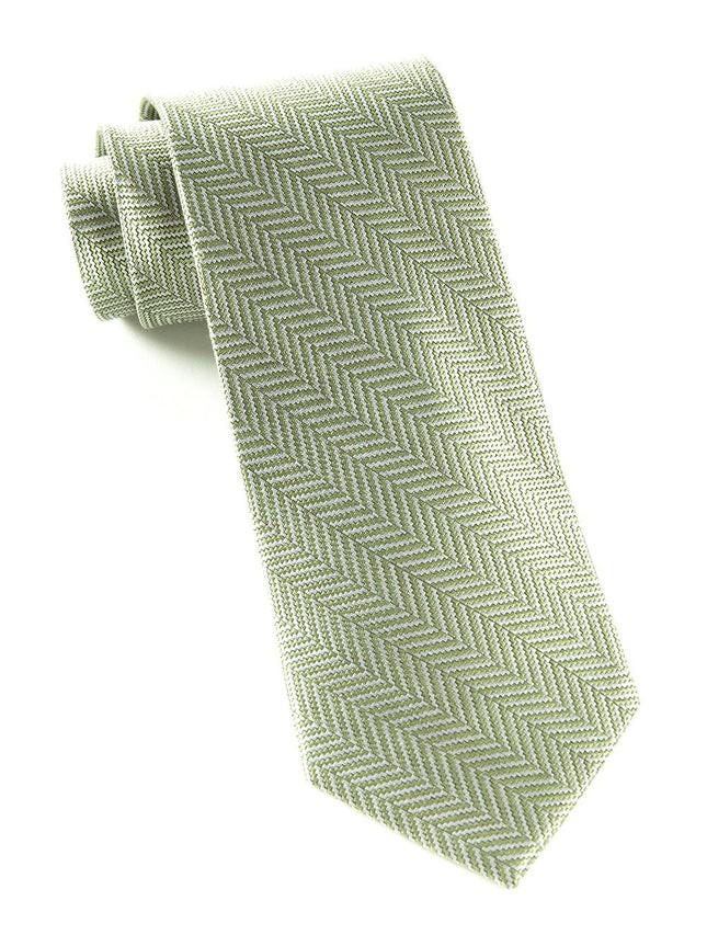 Herringbone Sage Green Tie