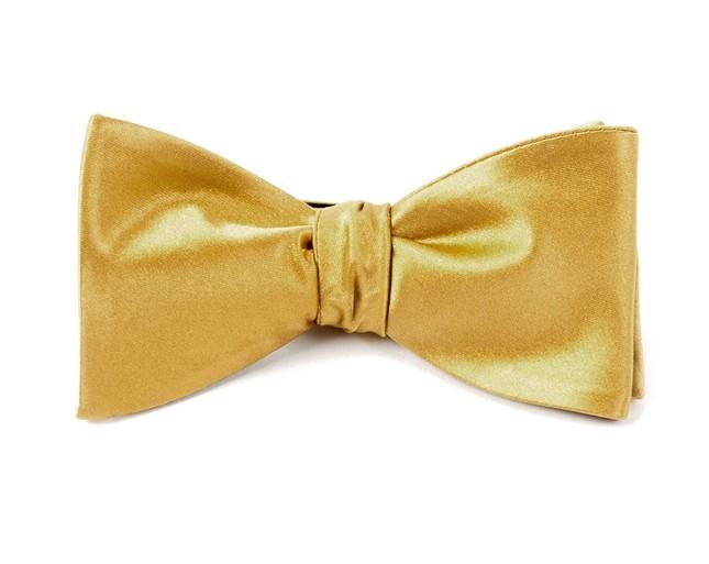 Solid Satin Mustard Bow Tie