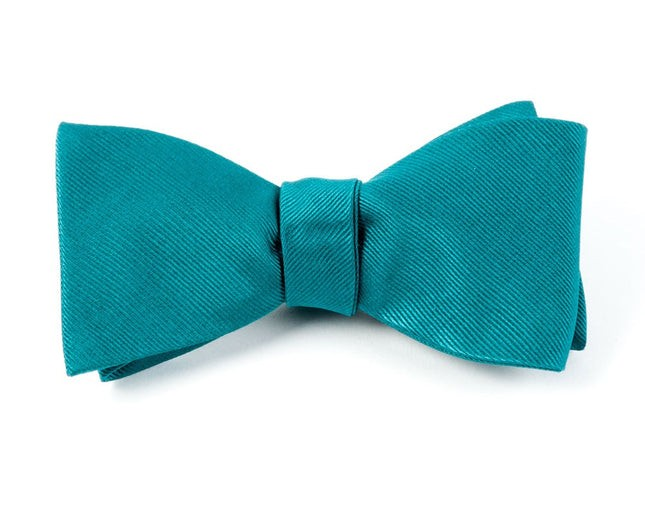 Grosgrain Solid Green Teal Bow Tie