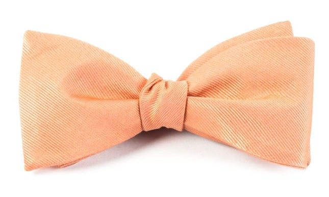Grosgrain Solid Peach Bow Tie