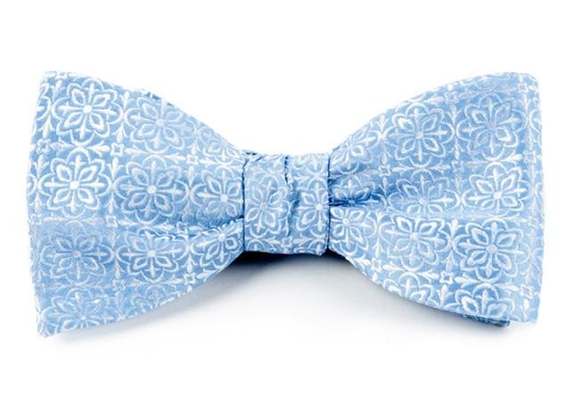 Opulent Light Blue Bow Tie