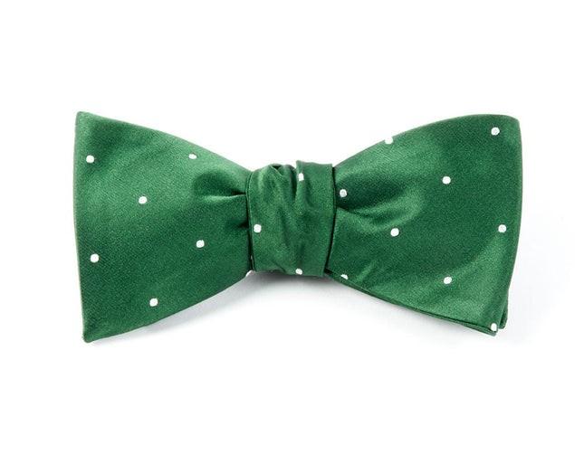Satin Dot Hunter Bow Tie