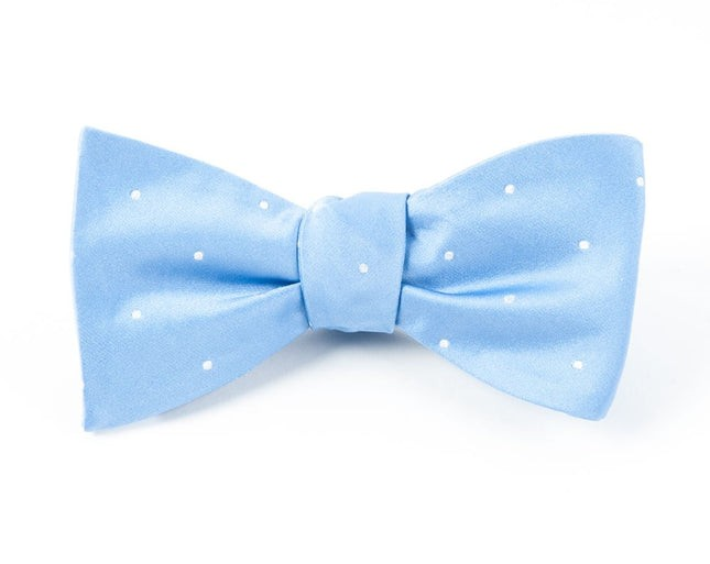 Satin Dot Light Cornflower Bow Tie