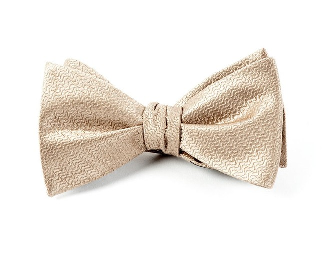 Static Solid Tan Bow Tie