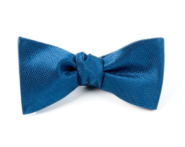 Static Solid Navy Bow Tie