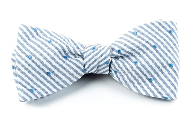 French Kiss Blue Bow Tie