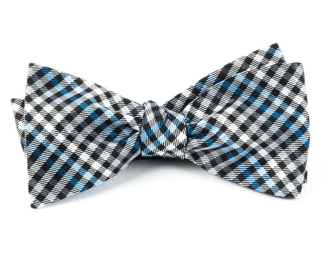 Daydream Plaid Black Bow Tie