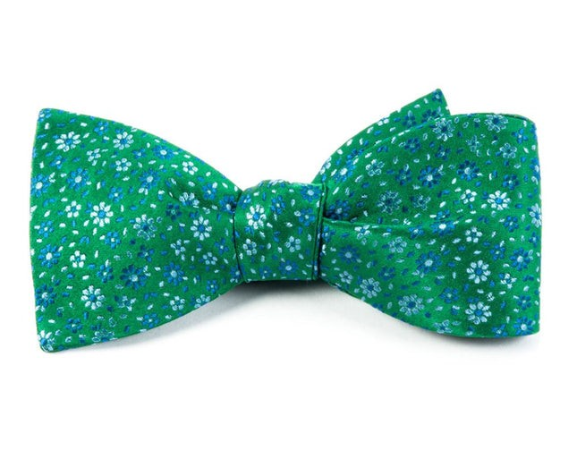Milligan Flowers Emerald Green Bow Tie