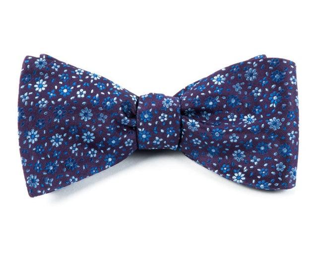 Milligan Flowers Light Purple Bow Tie