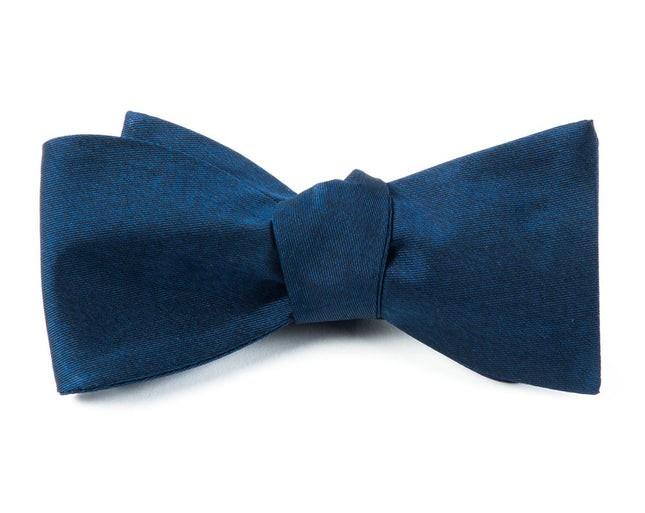 Melange Twist Solid Navy Bow Tie