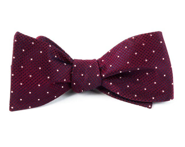Showtime Geo Burgundy Bow Tie
