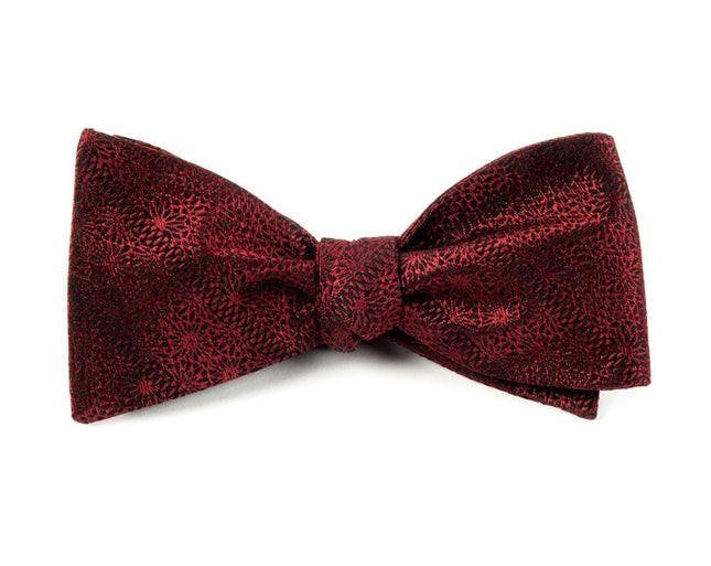 Interlaced Burgundy Bow Tie