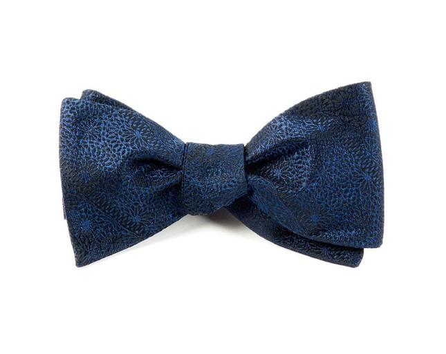 Interlaced Navy Bow Tie