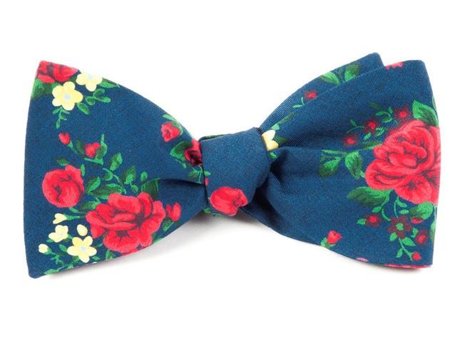 Hinterland Floral Navy Bow Tie