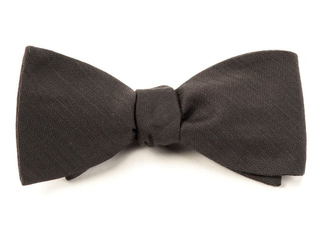Astute Solid Charcoal Bow Tie