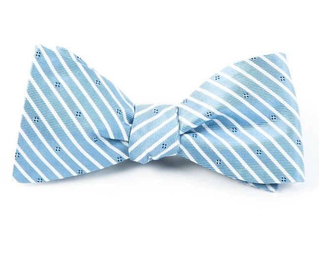Arbor Stripe Blue Bow Tie