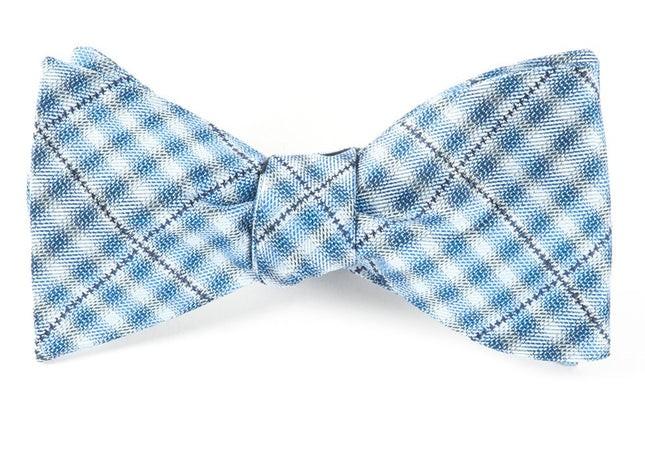 Parker Plaid Blues Bow Tie
