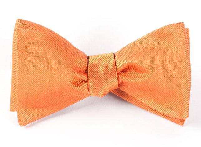 Grosgrain Solid Orange Bow Tie