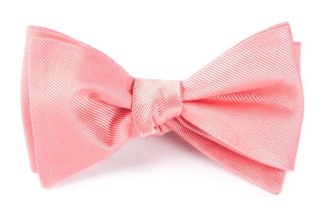 Grosgrain Solid Spring Pink Bow Tie