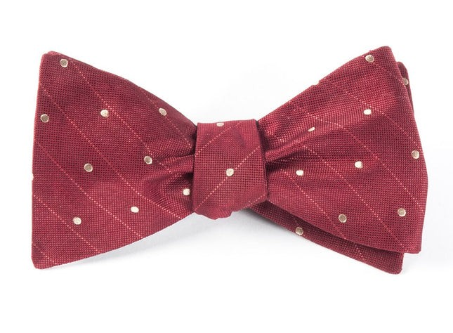 Ringside Dots Burgundy Bow Tie