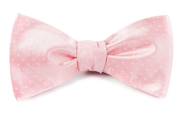 Mini Dots Light Pink Bow Tie