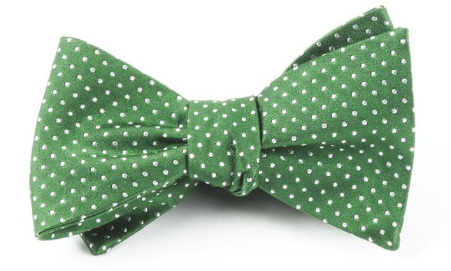 Pindot Treetop Bow Tie