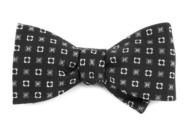 Steady Bloom Black Bow Tie