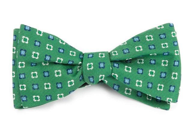 Steady Bloom Kelly Green Bow Tie