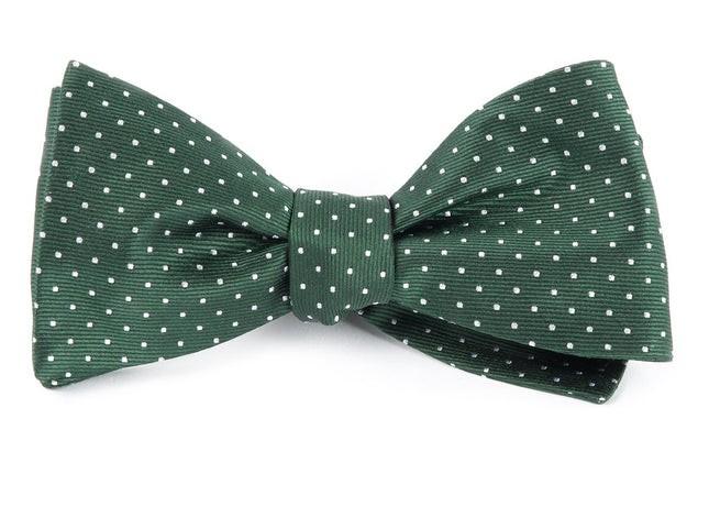 Mini Dots Hunter Green Bow Tie