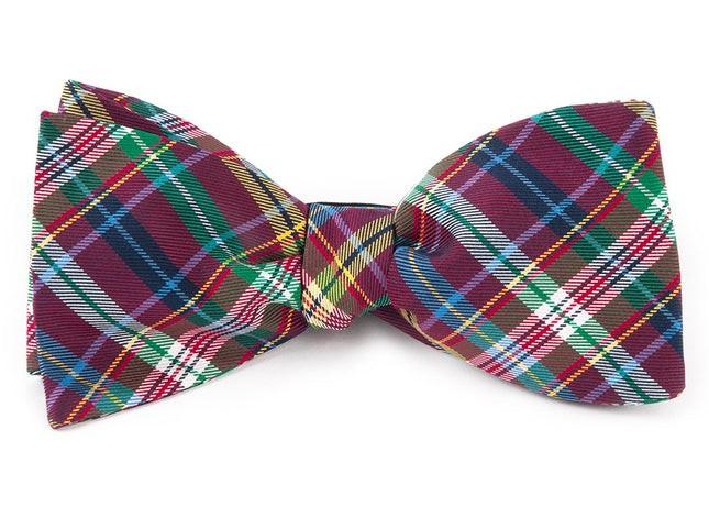Corrigan Plaid Red Bow Tie