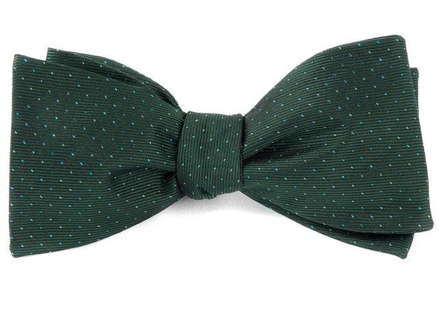 Flicker Hunter Green Bow Tie