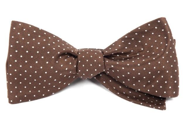 Mini Dots Chocolate Brown Bow Tie
