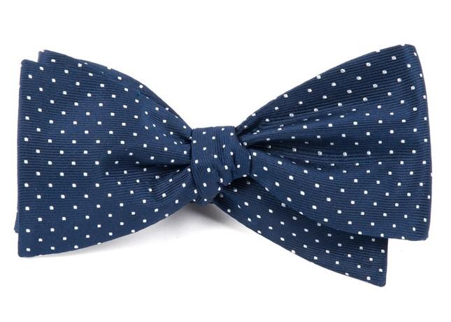 Mini Dots Navy Bow Tie
