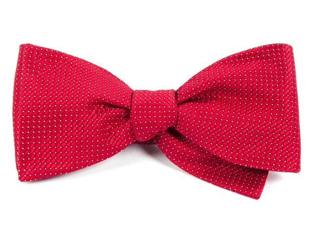 Pinpoint Red Bow Tie